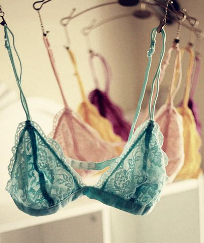 a) this pisses me off only because i will never own tiny little lacy bras like this. and b) who actually hangs their bras up to dry? aint nobody got time for that!