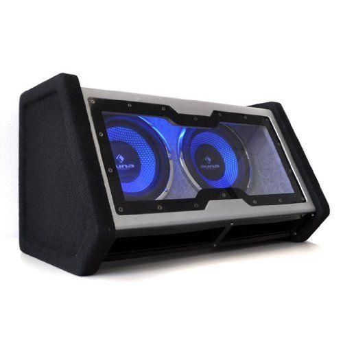 """"""" 2x subwoofers de 10 pulgadas (2x25cm) con unapotencia máxima de 2.000 W. Carcasaoptimizada por ordenador y exterior de color negro intenso con iluminaciónde neónLED azul. Te presentamosnuestra caja de subwoofer líder de 10 pulgadas con efectos deiluminación LEDazul. Los técnicos de la mar... http://altavocespara.com/coche/auna/auna-c8-sub-2x10-42-sistema-de-subwoofers-en-cajones-para-vehiculos-de-2000-w-negro/"""
