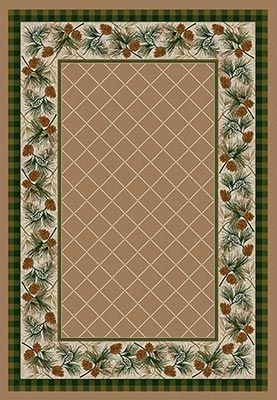 Evergreen Light Sandstone Area Rug Collection