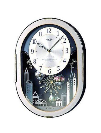 CITIZEN リズム時計 からくり掛け時計 スモールワールドオクラム 4MH758RH08 [4MH758RH08]