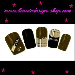 beautedesign-shop stickers ongles: ongles burberry