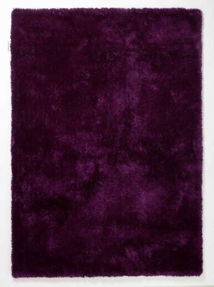 Teppich Aubergine - Lila - 90 x 160 cm, Colourcourage