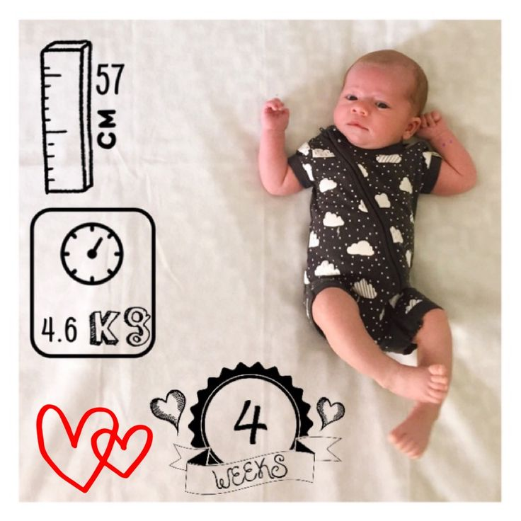 4 weeks old.... baby. Weight. Length. Mybaby