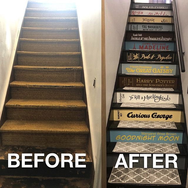 Two Or More Book Stair Decals Lettering For Diy Book Steps Etsy Book Stairs Stair Decals Diy Book