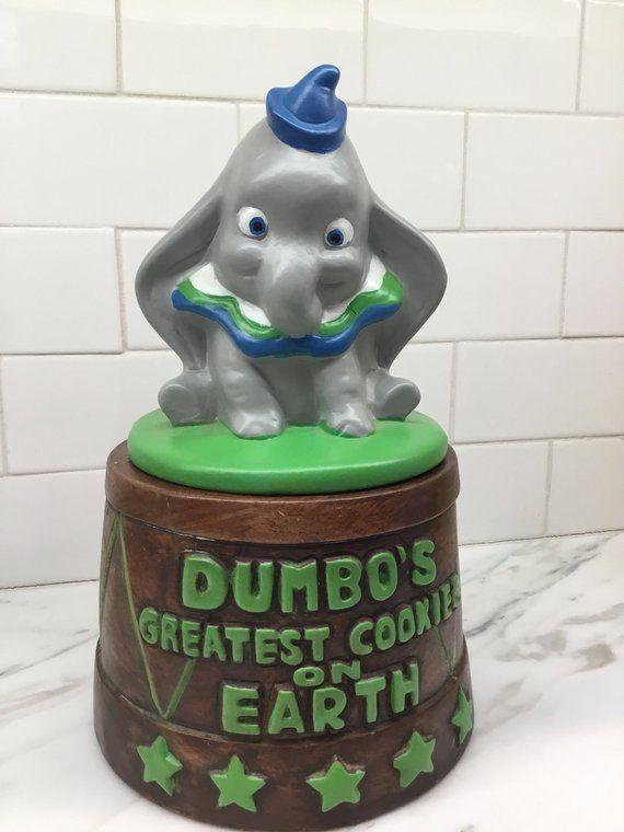 Disney Cookie Jar Etsy >> Vintage Disney Dumbo Cookie Jar California Originals Etsy Cookie