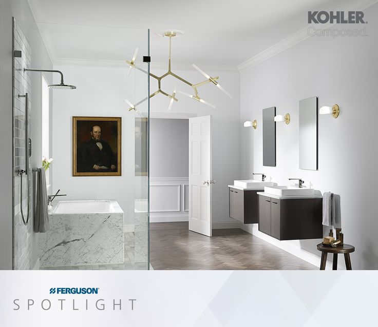 Designer Taps In The Home For Kohler Presents Composed Bathroom Faucet  Collection