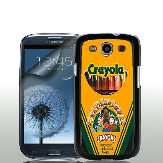 Crayola Cultural Crayon Box - Samsung Galaxy S3 Case with Free Screen Protector via Etsy