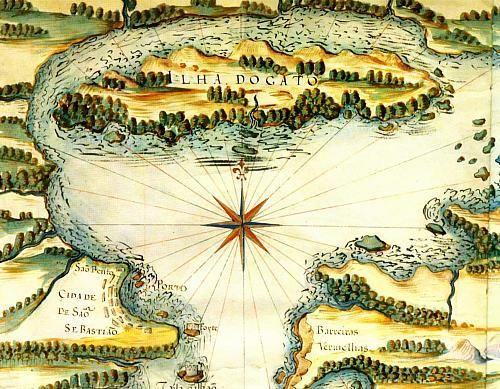 Alvarães (AMAZONAS) BRASILE | Mapa 12: Neste mapa editado por Martin Waldseemuller, em 1507 ...