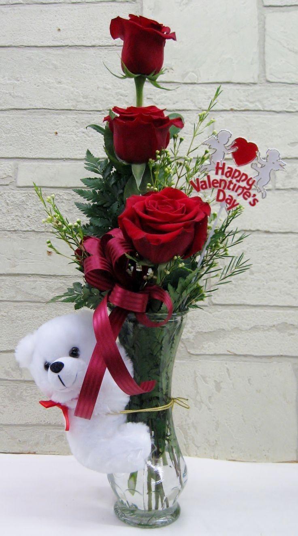 Happy Valentine S Day Gifts In 2020 Valentine Flower Arrangements Valentines Flowers Beautiful Flower Arrangements