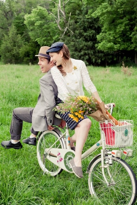 Deana and Joe's Vintage Themed Picnic and Bike Ride by Brandi Tanksley