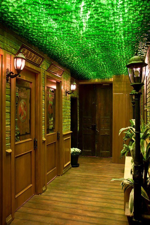 Old english pub bottle ceiling #rendahelindesign #design #works #interiordesign #interior #decoration #oldenglishpub #bagdatcadesi