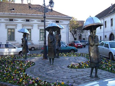 Ladies with umbrella