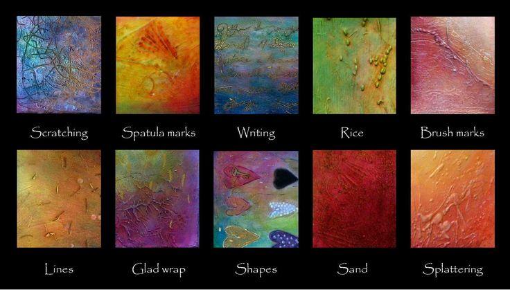 Gesso & Texture Paste: different techniques = different effects