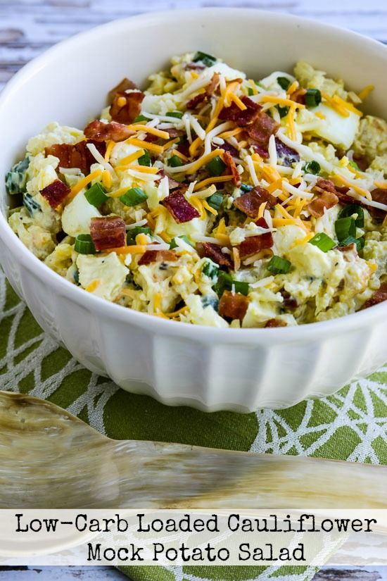 When we tested this recipe forLow-Carb Loaded Cauliflower Mock Potato Salad, we couldn't stop eating it! And not only is this deliciously low-carb, but it's also low-glycemic, Keto, and gluten-free! Use theRecipes-by-Diet-Type Indexto find more recipes like this one. Click here to PIN Low-Carb Loaded Cauliflower Mock Potato Salad! I do have somewhat of a …