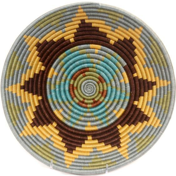 African Basket - Rwanda Sisal Bowl - 12 Inches Across - #33818