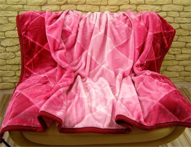 Elegantní teplá deka růžové barvy s nádechem světle růžové
