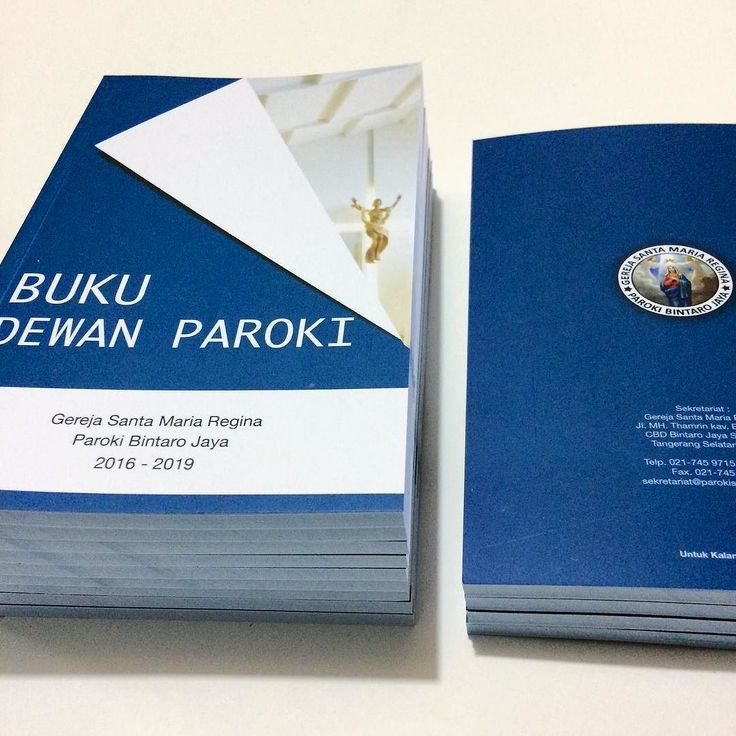 Buku Dewan Paroki Gereja Santa Maria Regina  #book #buku #paroki #christmas #natal #printing #percetakan #jakarta #maucetak #design