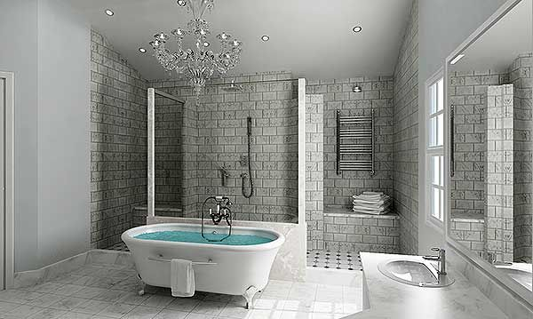 This house has an amazing master bath layout!!!