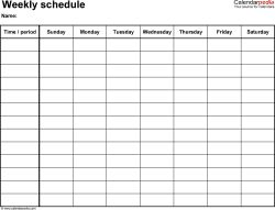 Best 25 weekly schedule template excel ideas on pinterest weekly itinerary template free weekly schedule templates for word 18 templates pronofoot35fo Choice Image