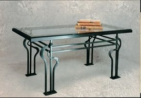 Hand forged tables