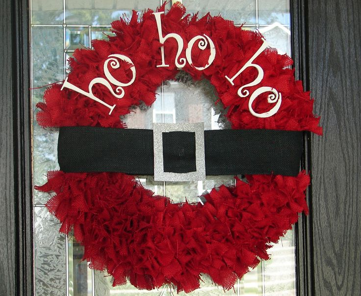 I will be making this!: Holiday, Christmas Wreaths, Ho Wreath, Ho Ho, Wreath Idea, Christmas Decor, Santa Wreath