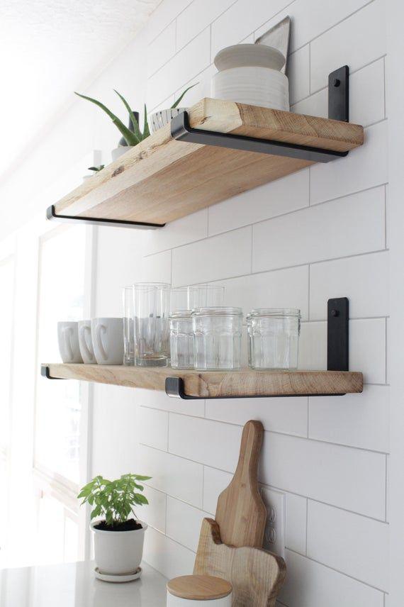Metal Shelf Brackets For Floating Shelves As Seen In Becki Etsy In 2021 Floating Shelves Kitchen Floating Shelves Diy Metal Shelves Metal brackets for floating shelves