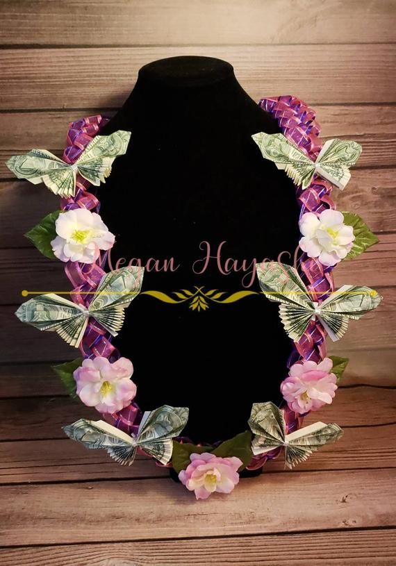 Butterfly Money Lei / graduation lei / birthday lei / all occasion lei / flower lei/ money lei / dollar lei / custom lei