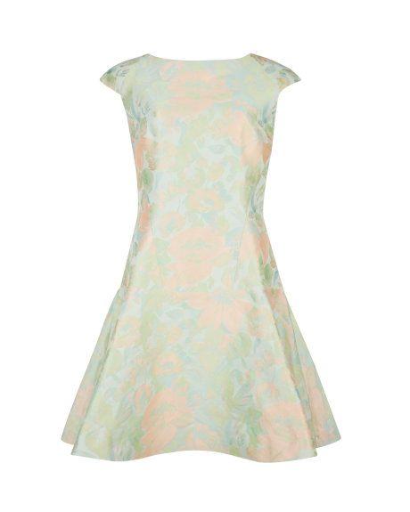 Floral flare dress - Light Green   Dresses   Ted Baker UK