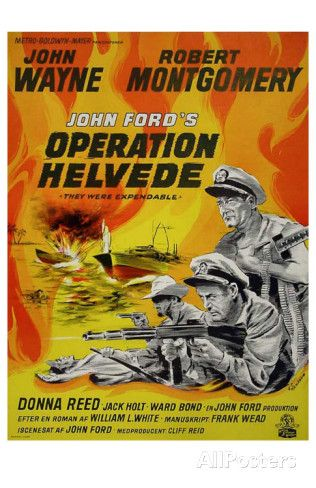 They Were Expendable, Danish Movie Poster, 1945 Premium Poster