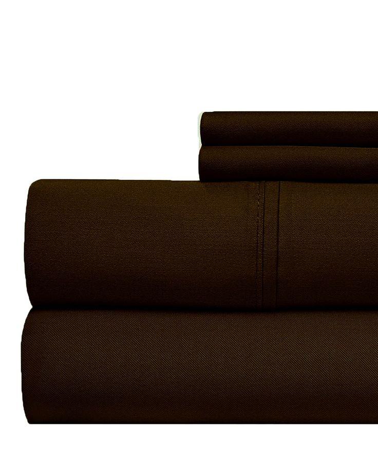 Chocolate Cotton 1000-Thread Count Luxury Sheet Set