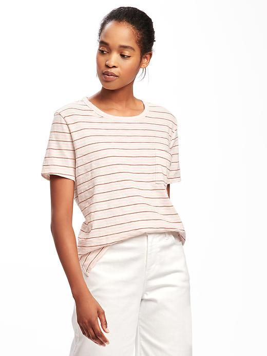 coral and navy stripe