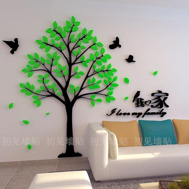 ... stamboom muurstickers woonkamer slaapkamer gezellig 3D Wall Stickers