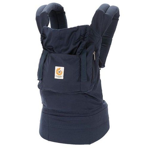 WORLDWIDE FREE SHIPPING  Discount Sale  ErgoBaby Organic Navy Baby Carrier with Box and Manual  Description Organic. Ethical. Ergonomic.  Made from 100% Oeko-Tex certified Organic cotton, the Ergobaby