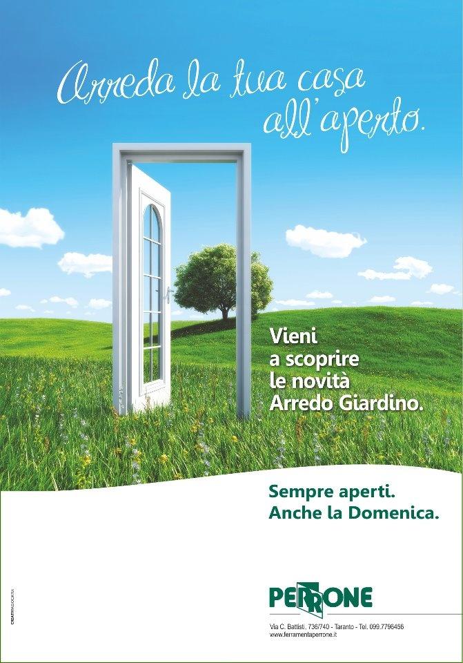 #CREATIVIASSOCIATI: Annuncio stampa Arredo Garden Perrone - Taranto