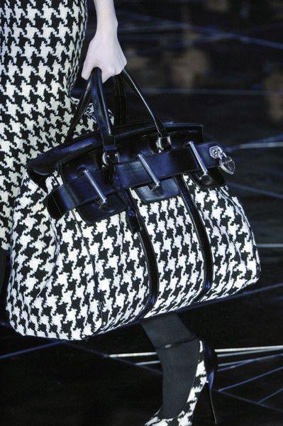 Black & White check by Alexander McQueen..........................