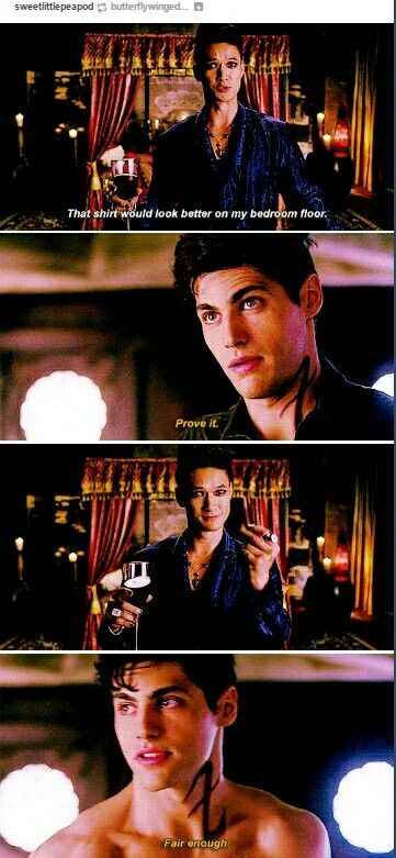This is great XP Alexander Lightwood & Magnus Bane #Malec (credit to maker)