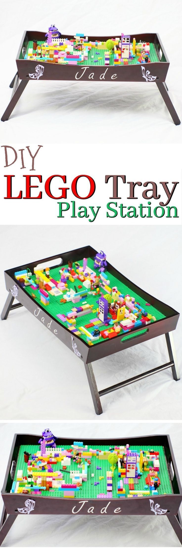 This LEGO Tray Play station is such a simple project even the most Novice crafter can create it! The Lego Tray play station is an excellent gift for LEGO lovers, and something you can easily create at home in a single afternoon. via /2creatememories/
