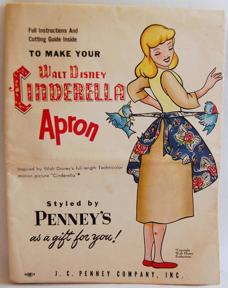 1950s Walt Disney Cinderella Apron pattern