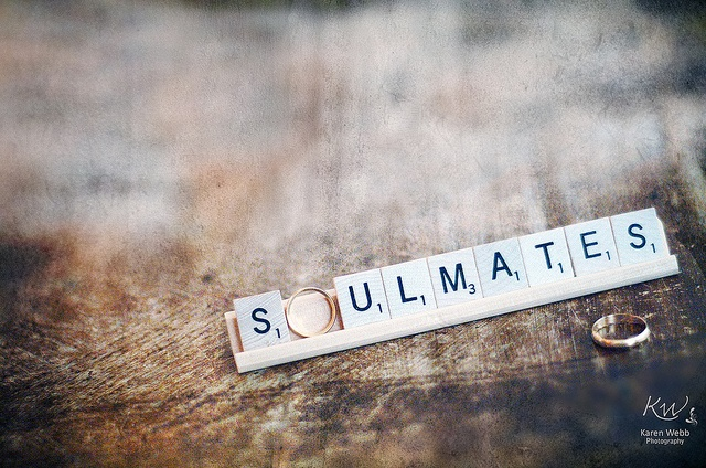 Soulmates- Wedding #ring with #scrabble tiles