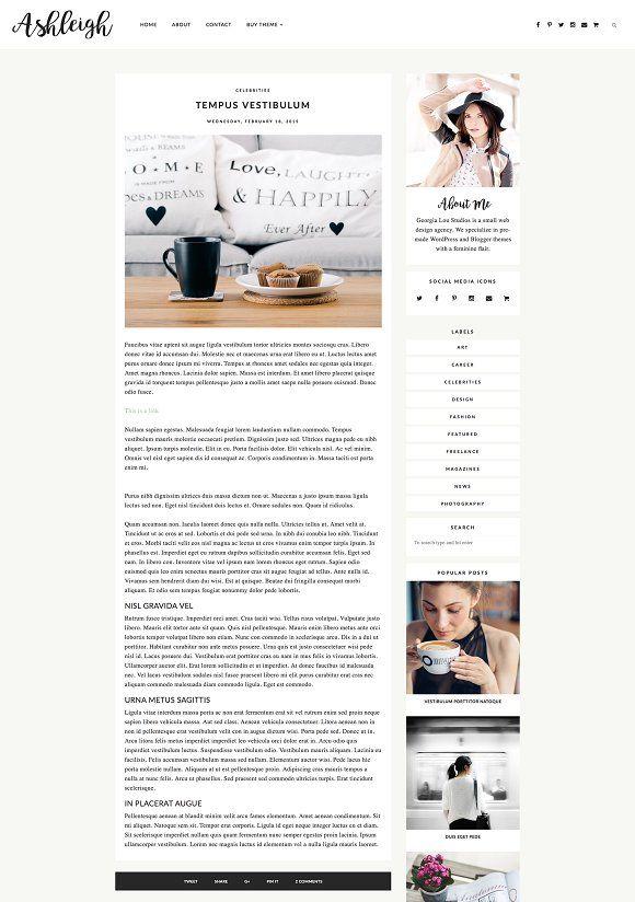 Responsive Blogger Template Ashleigh Blogger Templates Responsive Blogger Template Templates