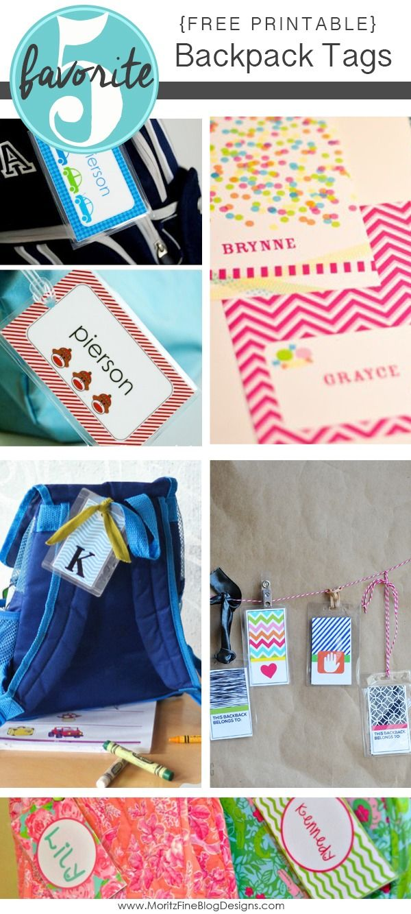 Get your kids backpack ready for school with these free printable backpack tags! Lots of options for boys and girls.
