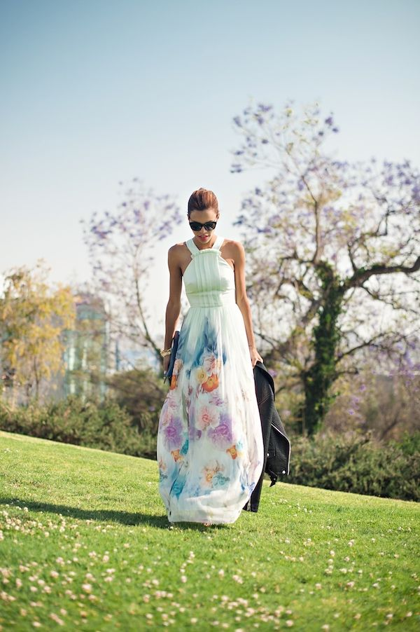 Summer weddings with ted baker floral maxi motorcycle for Summer maxi dress for wedding