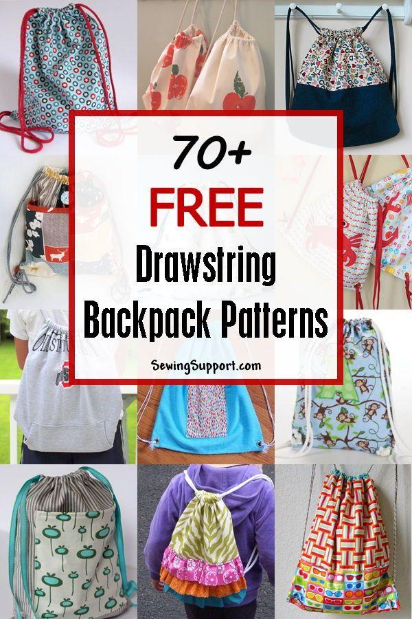 70 Free Drawstring Backpack Patterns Drawstring Backpack Pattern Backpack Pattern Backpack Pattern Sewing