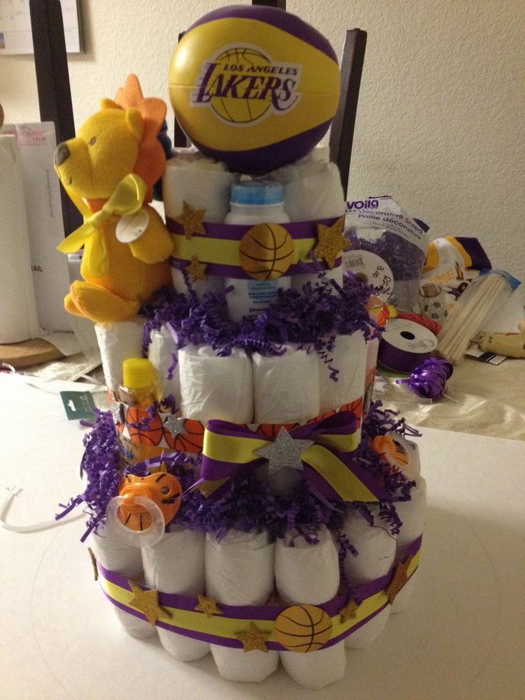 25 Best Lakers Baby Shower Images On Pinterest Shower