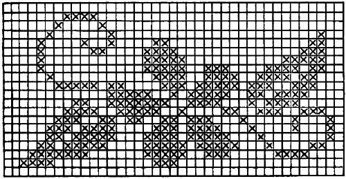 Flower Charts Filet Crochet Cross Stitch Embroidery Free Patterns - KarensVariety.com