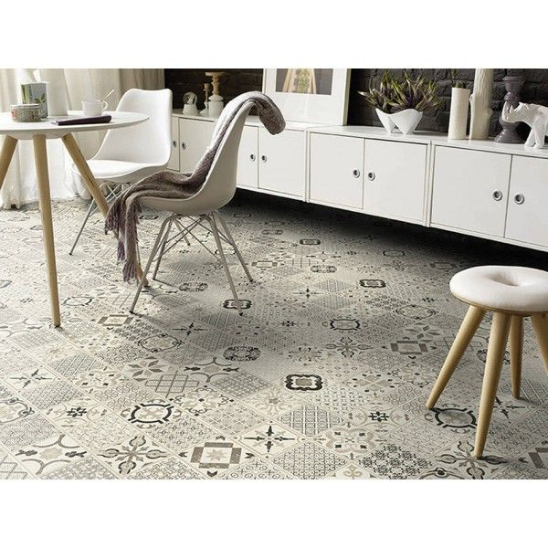 Dalle PVC clipsable Mosaïque Tarkett Starfloor Click 50 Retro Black White