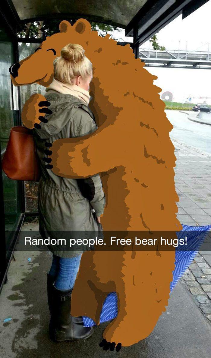 best snapchat drawing bear