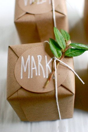 Butcher paper and twine packaging.