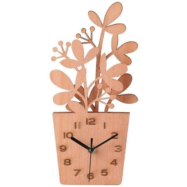 Giftgarden Wooden Flowers Pot Desk Clocks Decor Mom Gifts, Gift for... (220 ZAR) ❤ liked on Polyvore featuring home, home decor, clocks, wooden flower pots, wood clock, wood flower pots, wooden plant pots and wood home decor