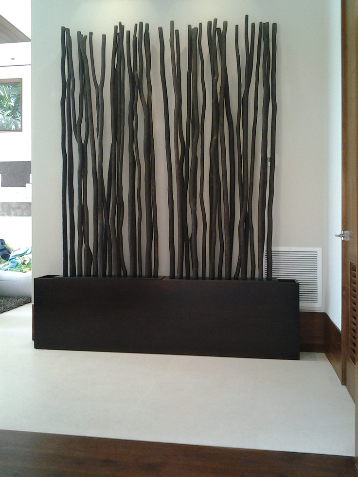 TREASURY ITEM - Modern Wenge  Wood Planter.